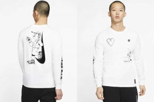 NIKE SEASONAL 2 L/S TEE - WHITE