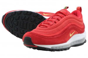 NIKE AIR MAX 97 QS - CHALLENGE RED/METALIC GOLD-WHITE