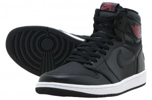 AIR JORDAN 1 RETRO HIGH OG - BLACK/GYM RED-BLACK-WHITE