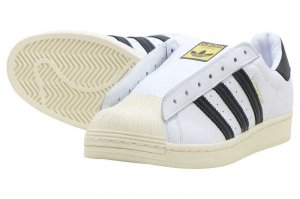 adidas SUPERSTAR LACELESS - FTW WHITE/CORE BLACK/FTW WHITE