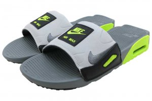 NIKE AIR MAX 90 SLIDE - SMOKE GREY/VOLT-BLACK