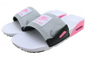 NIKE AIR MAX 90 SLIDE - WHITE/ROSE-PURE PLATINUM