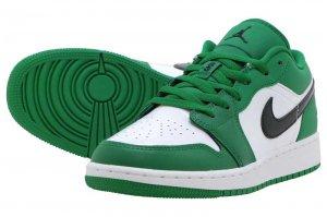 AIR JORDAN 1 LOW GS - PINE GREEN/BLACK-WHITE