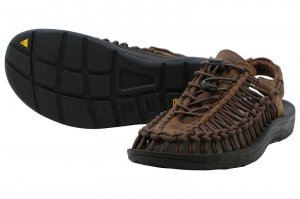 KEEN UNEEK LETHER - Bison/Black