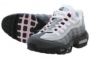NIKE AIR MAX 95 PRM - BLACK/PINK FOAM -GUNSMOKE