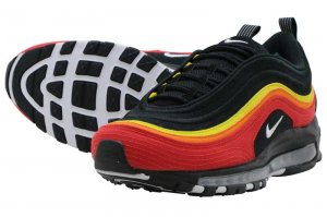 NIKE AIR MAX 97 - BLACK/WHITE-CHILLI RED-MAGMA ORANGE