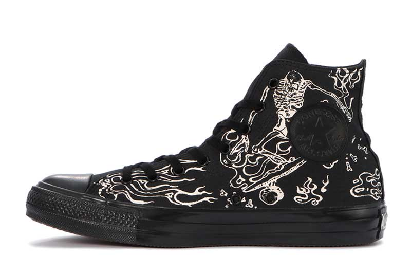 CONVERSE ALL STAR US SKULLSKATER HI - BLACK