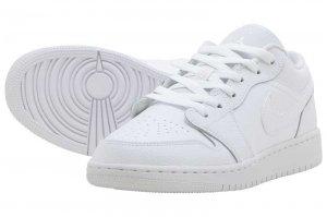 AIR JORDAN 1 LOW (GS) - WHITE/WHITE-WHITE