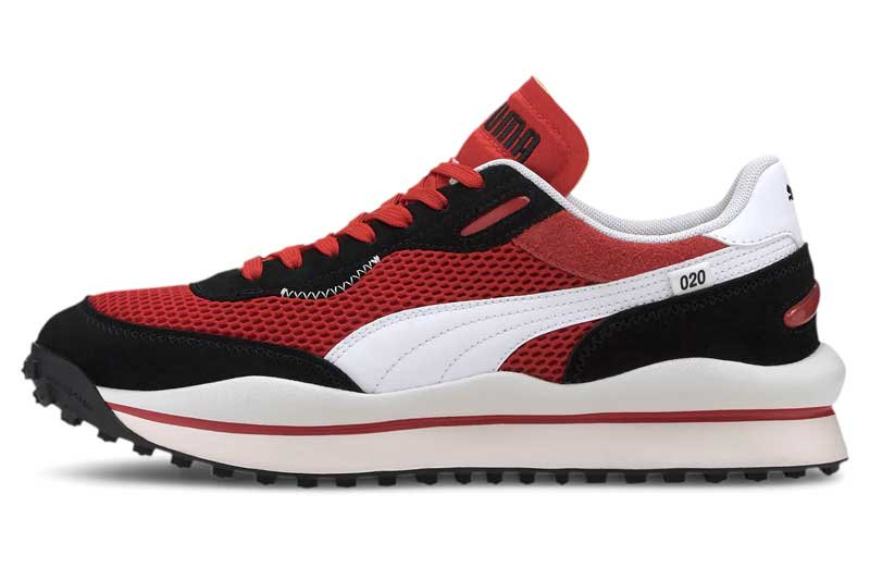 PUMA STYLE RIDER STREAM ON プーマ スタイルライダー ストリームオン HIGH RISK RED/P.BLACK/P.WHITE 371527-01