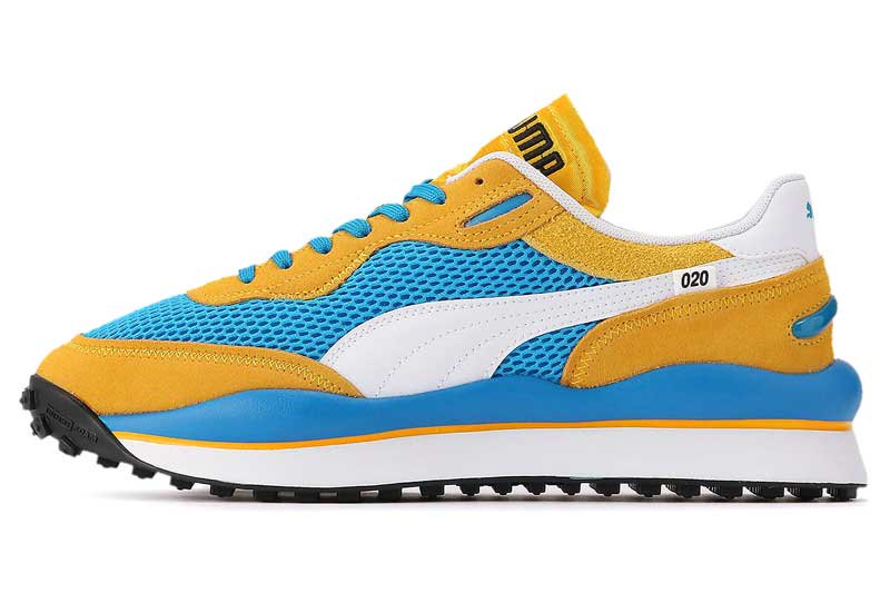 PUMA STYLE RIDER STREAM ON プーマ スタイルライダー ストリームオン PLAT BLUE/SPECTRA YELLOW 371527-03
