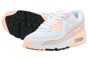 NIKE W AIR MAX 90 - WHITE/PLATINUM TINT-BARELY ROSE