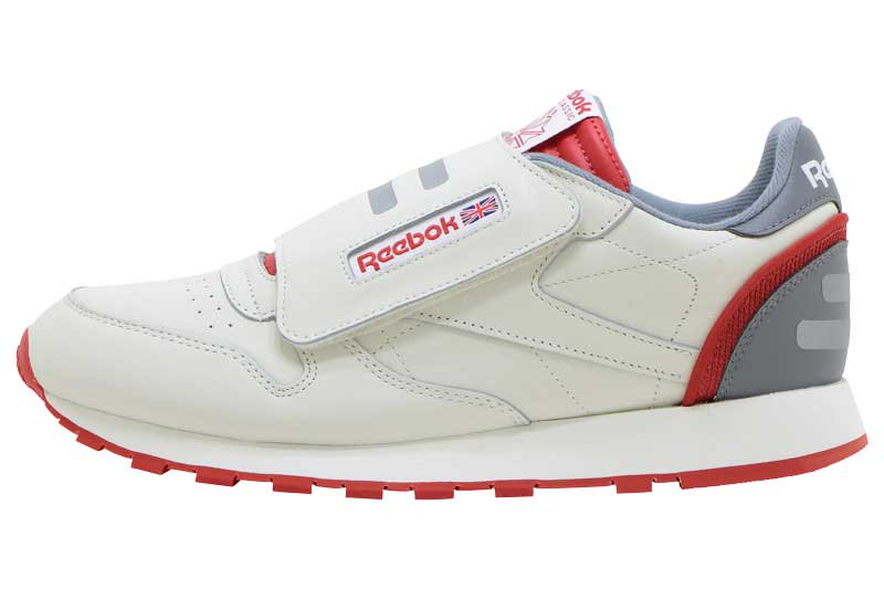 REEBOK CLASSIC LEATHER STOMPER - CHALK/LEGACY RED/PURE GREY
