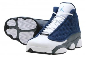 AIR JORDAN 13 RETRO (GS) - NAVY/UNIVERSITY BLUE