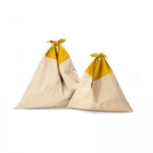 AZUMA BAG STANDARD SMALL - BEIGE/MUSTARD