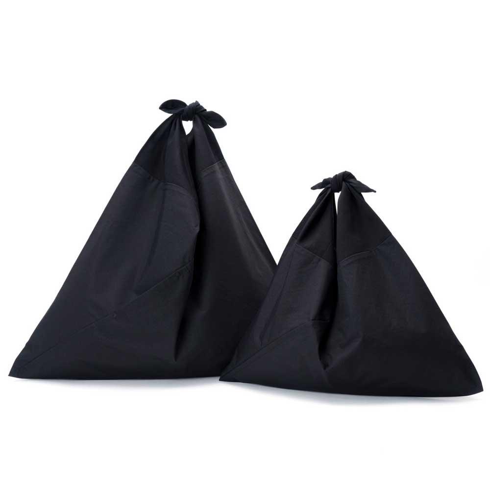 AZUMA BAG PLAIN LARGE - BLACK/BLACK