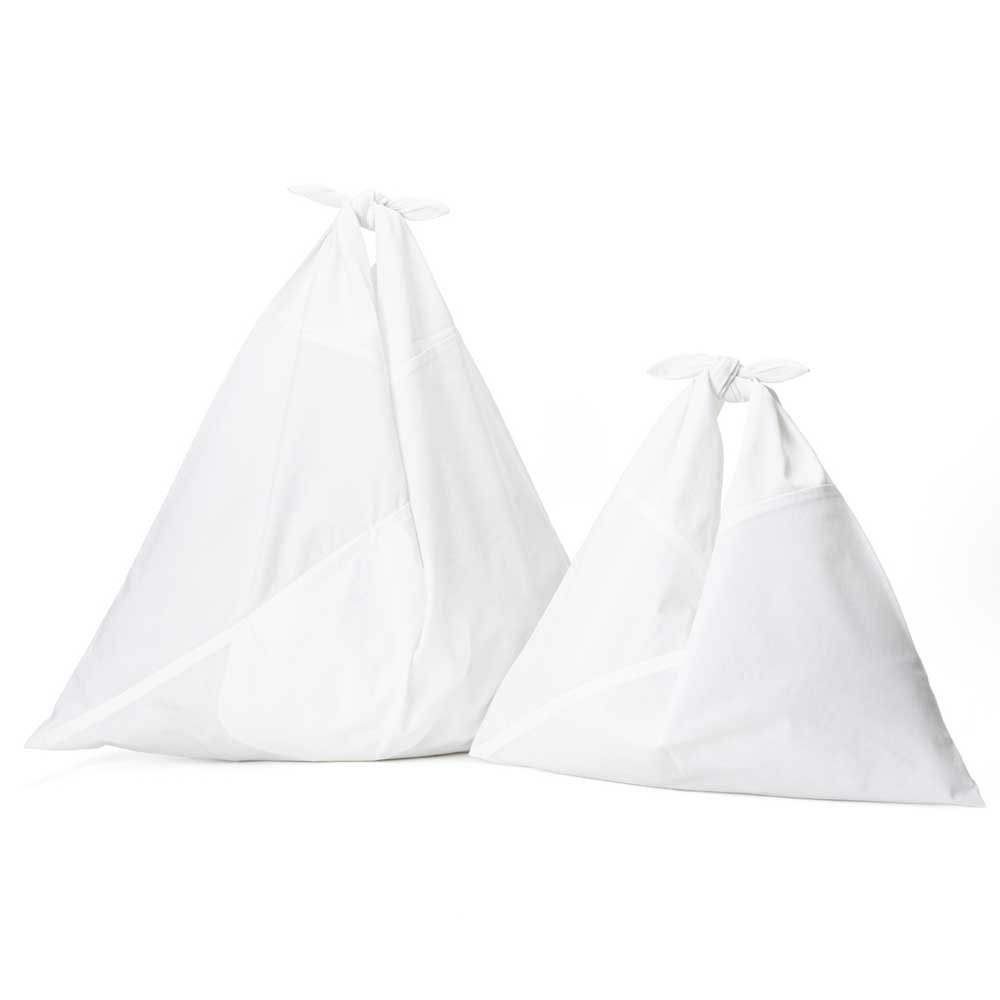 AZUMA BAG PLAIN LARGE - WHITE/WHITE