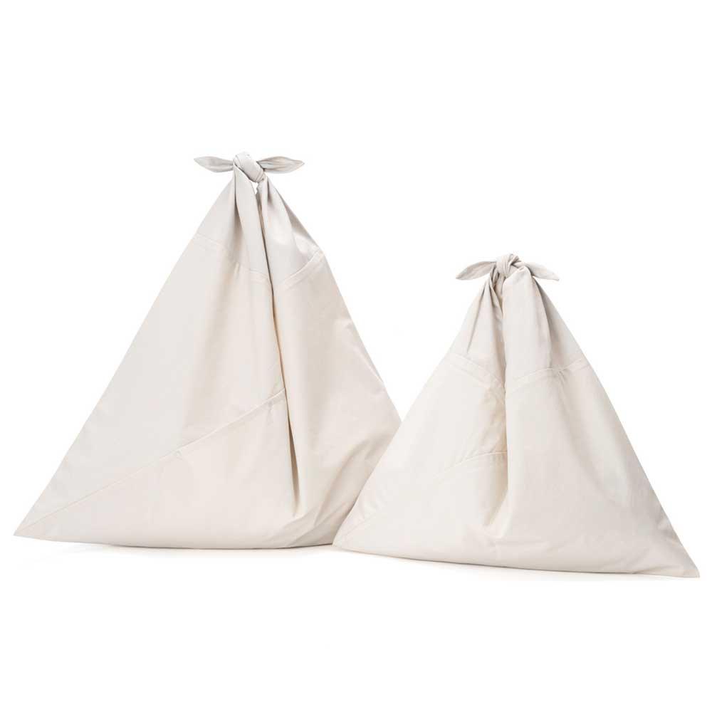 AZUMA BAG PLAIN LARGE - IVORY/IVORY