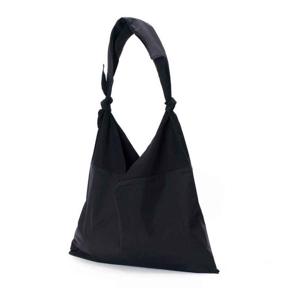 AZUMA BAG x TASUKI BAG PLAIN LARGE - BLACK/BLACK