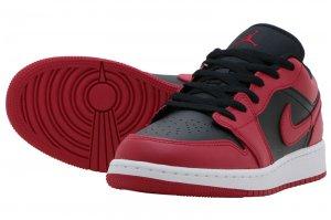 AIR JORDAN 1 LOW GS - GYM RED/BLACK-WHITE