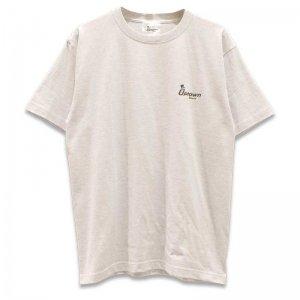 UPTOWN LOGO T-SH アップタウン ロゴ Tシャツ ASH/BLACK
