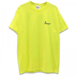 UPTOWN LOGO T-SH アップタウン ロゴ Tシャツ SAFTY GREEN/BLACK
