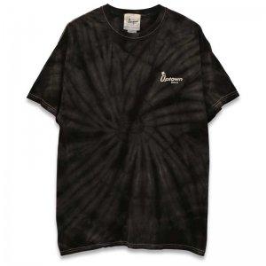 UPTOWN LOGO TIE-DYE T-SH アップタウン ロゴ タイダイ Tシャツ TIE DYE BLACK/WHITE