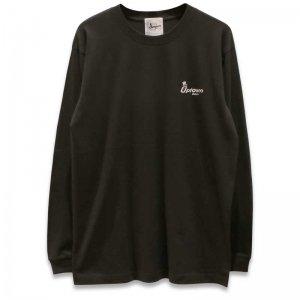 UPTOWN LOGO L/S T-SH アップタウン ロゴ L/S Tシャツ SUMI/WHITE