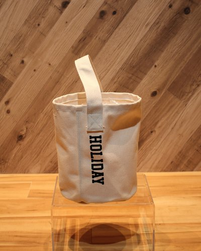 HOLIDAY CANVAS BUCKET BAG M