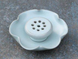 許徳家 青瓷 荷葉茶盤