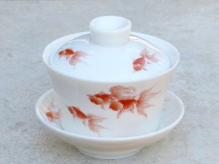 風清堂 金魚 小蓋碗