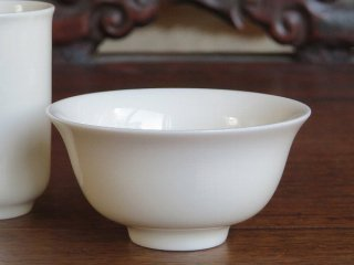 三希 牙白 茶杯