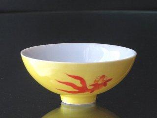 黄地金魚小碗