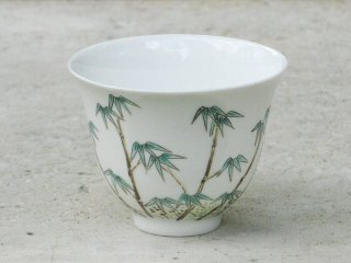 景徳鎮手書き杯 竹子