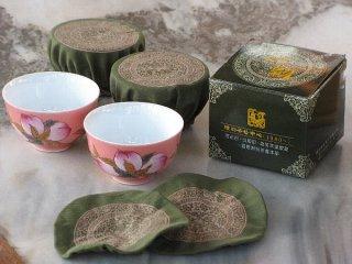 陸羽茶杯カバー(12枚入り)