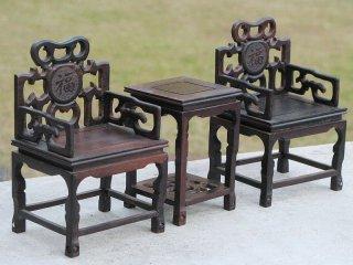 ミニチュア中国家具 紫檀 太師椅