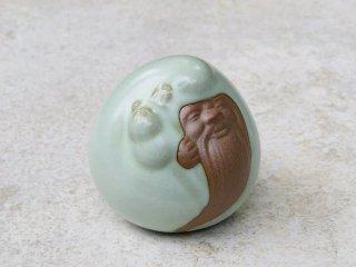 茶玩具 寿星公(緑)