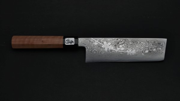 桜吹雪 菜切 桜柄<br>Sakura Nakiri Sakura Handle