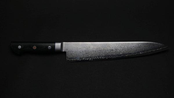 HIRO V金10号 牛刀 マイカルタ柄<br>HIRO VG10 Gyuto Micarta Handle