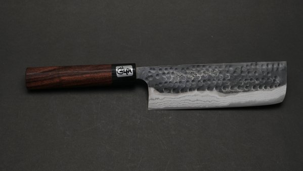 黒龍 菜切 紫檀柄<br>Blue #2 Kokuryu Nakiri Rosewood Handle