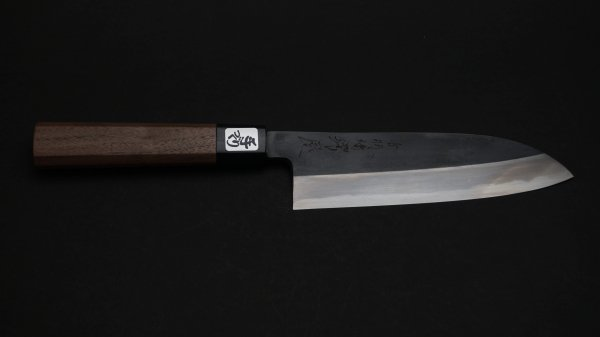 白二鋼 黒打ち 三徳 胡桃柄<br>White#2 Kurouchi Santoku Walnut Handle