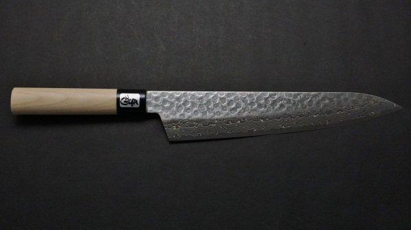 V金10号槌目 和式柄 牛刀 朴柄<br>VG10 Tsuchime Gyuto Magnolia Handle
