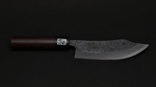 本種子島 鹿さばき 紫檀柄 (黒)<br>Tanegashima Deer Knife Rosewood Handle (Kurouchi)