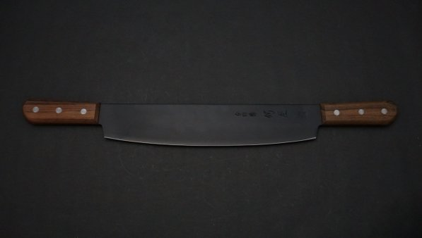 フッ素加工 餅切 紫檀柄<br>Fluorine Coating Mochikiri Rosewood Handle