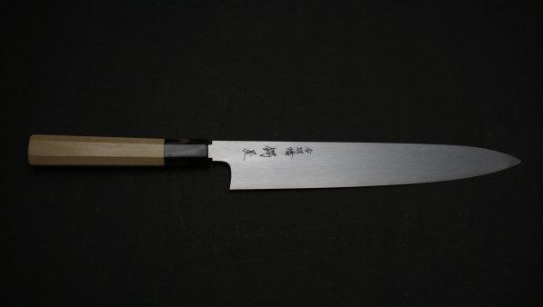 白二鋼 極上 筋引 朴柄<br>White #2 Gokujo Sujihiki Magnolia Handle