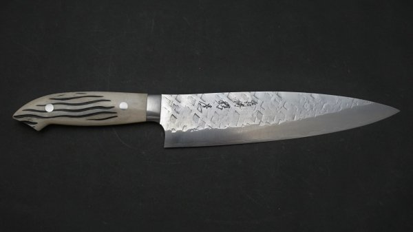 佐治武士 SRS13 牛刀 鹿角柄 (白)<br>Saji SRS13 Gyuto Stag Handle (White)
