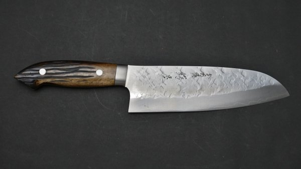 佐治武士 SRS13 三徳 鹿角柄 (茶)<br>Saji SRS13 Santoku Stag Handle (Brown)