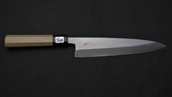 銀三鋼 身おろし出刃 朴柄<br>Ginsan Mioroshi Deba Magnolia Handle