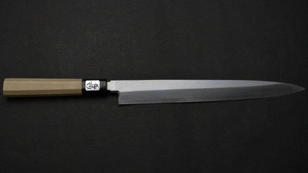 銀三鋼 柳刃 朴柄<br>Ginsan Yanagiba Magnolia Handle