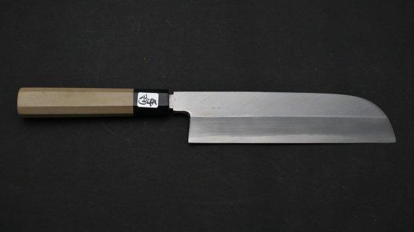 銀三鋼 鎌形薄刃 朴柄<br>Ginsan Kamagata Usuba Magnolia Handle