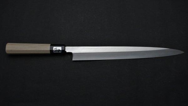 銀三鋼 上仕上 柳刃 朴柄<br>Ginsan Pro Yanagiba Magnolia Handle